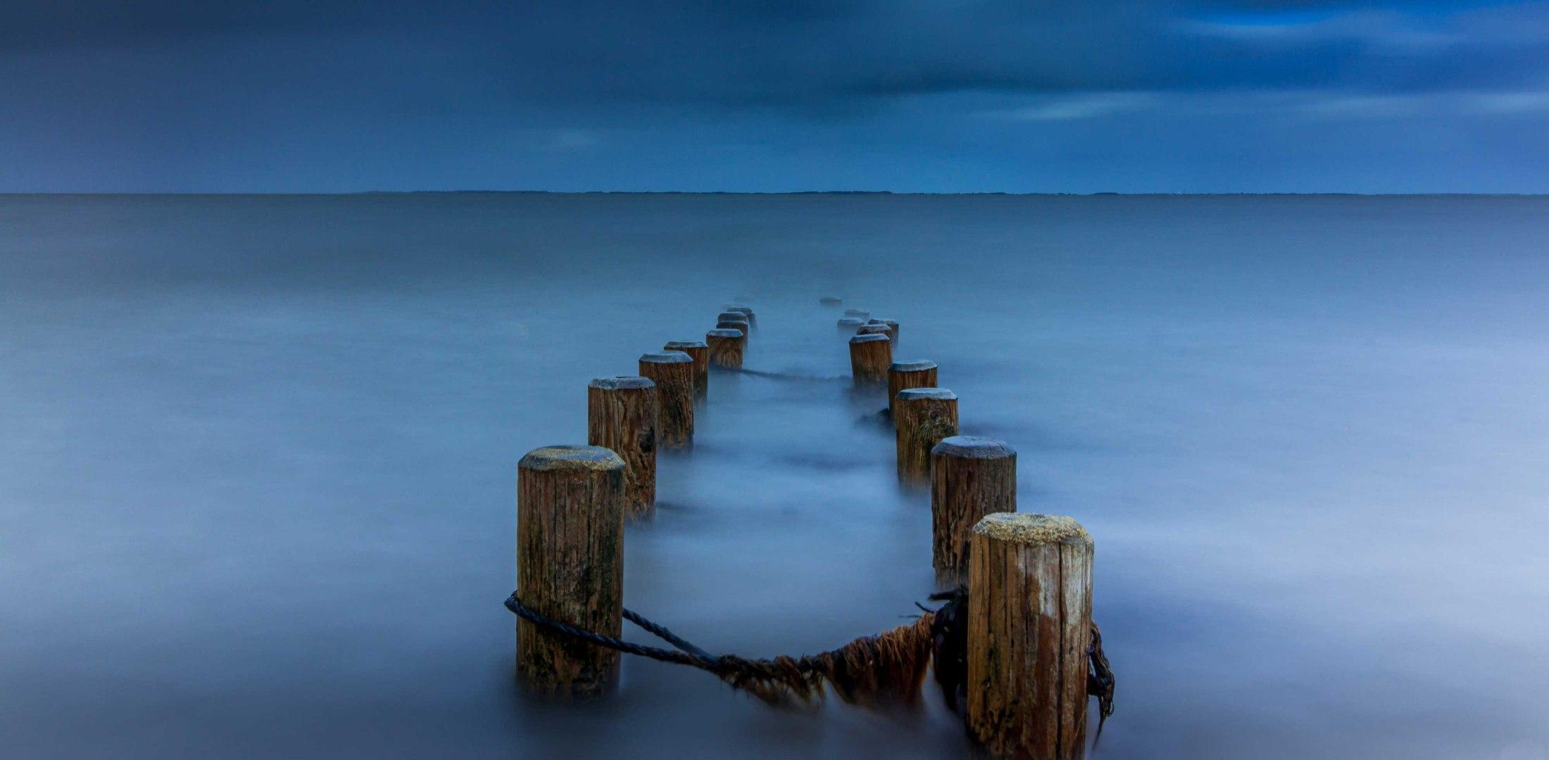Buhnen im Watt bei Amrum, © Torsten Boll