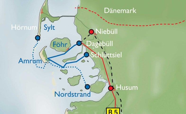 anfahrt_amrum-karte, © Kai Quedens