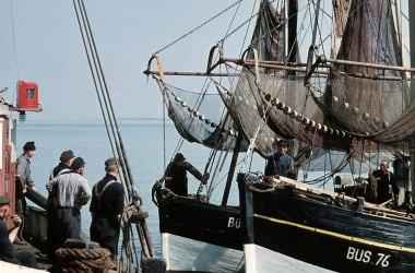 Kutter im Seezeichenhafen, historisch