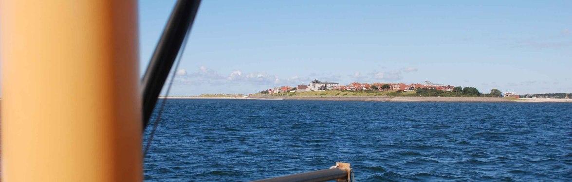 Wittdün Amrum von See aus gesehen, © KQuedens