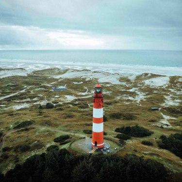 Amrumer Leuchtturm aus der Luft, © AmrumTouristik